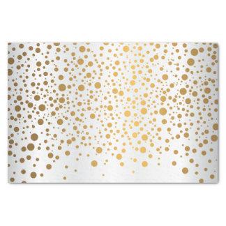 White and Metallic Gold Confetti Tissue Paper