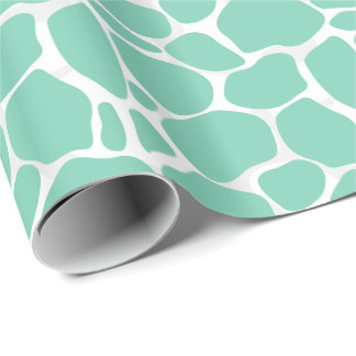 White And Mint-Green Abstract Leopard Pattern