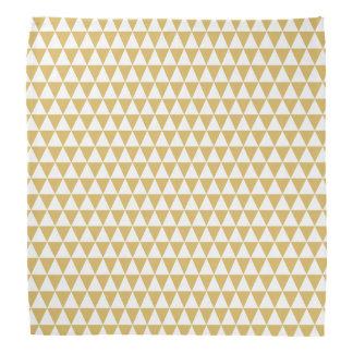 White and Misted Yellow Geometric Triangles Bandana