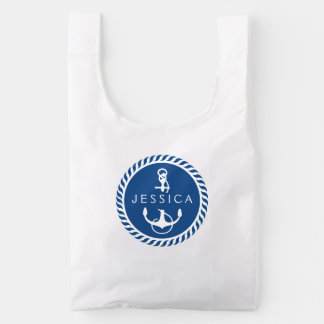 White And Navy Blue Nautical Boat Anchor