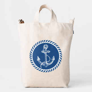 White And Navy Blue Nautical Boat Anchor 2