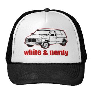 white and nerdy trucker hat