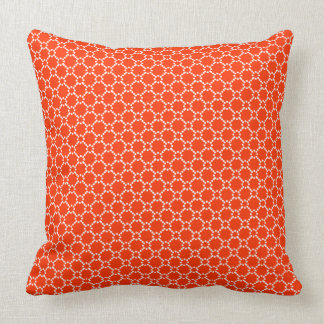 White And Orange Geometric Seamless Pattern Throw Pillow