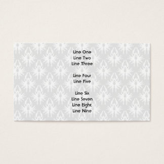 White and Pale Gray Damask Pattern. Business Card