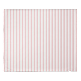 White And Pale Pink Rose Striped Duvet Duvet Cover