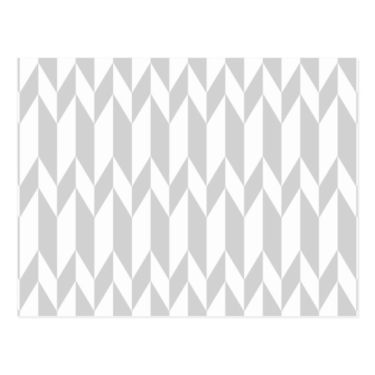 White and Pastel Grey Abstract Graphic Pattern. Postcard