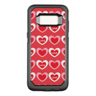 White and Pink Hearts OtterBox Commuter Samsung Galaxy S8 Case