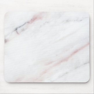 White and Pink Marble Mouse Pad