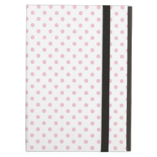 White And Pink Polka Dot Pattern iPad Case