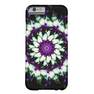 White and Purple Kaleidoscope Mandala Barely There iPhone 6 Case