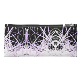 White And Purple Lines  Pencil Case