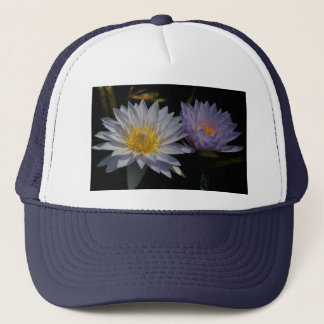 White and Purple Lotus Waterlilies Hat