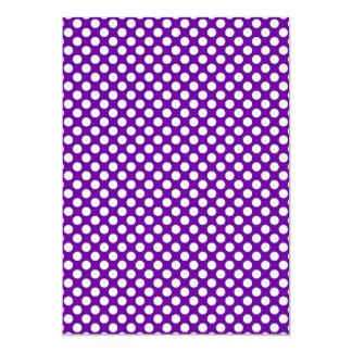 White and Purple Polka Dots Card