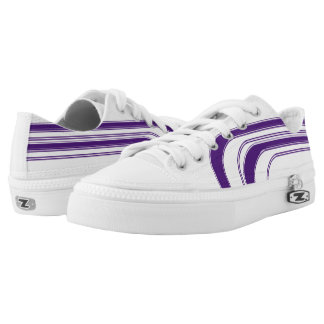 White and Purple Sojourn Max Low-Top Sneakers
