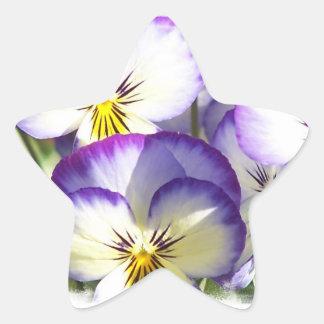 White and Purple Violas Stickers