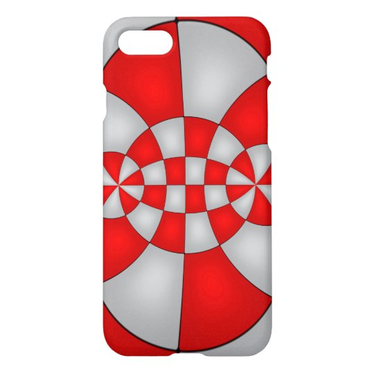 White and red abstract Art Case