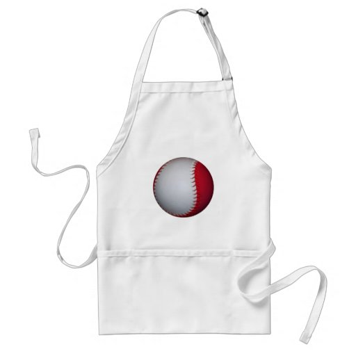 White and Red Baseball / Softball Aprons