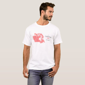 White and Red Canada's 150th Celebration TShirt