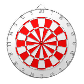 white and red dartboard
