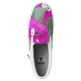 WHITE AND RED FLOWERS Slip-On SNEAKERS