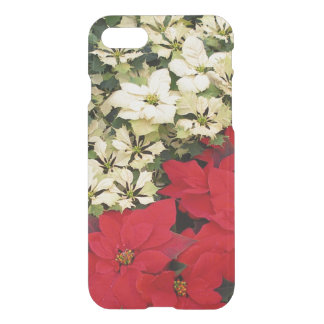 White and Red Poinsettias I Holiday Floral iPhone 8/7 Case