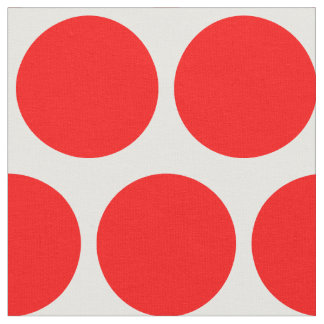 White and Red Polka Dot Fabric