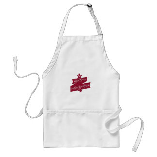 White And Red Wish You A Merry Christmas Standard Apron