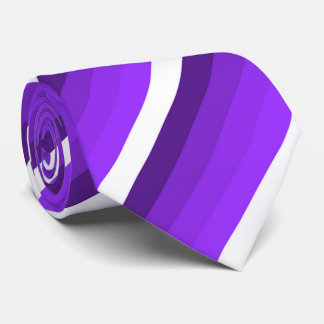 White and shades of purple striped tie