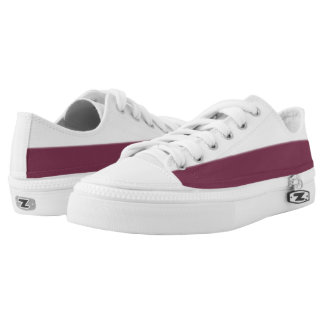 White and True Maroon Two-Tone Lo-Top