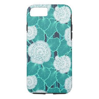 White and Turquoise Muffin Fleur iPhone 8/7 Case