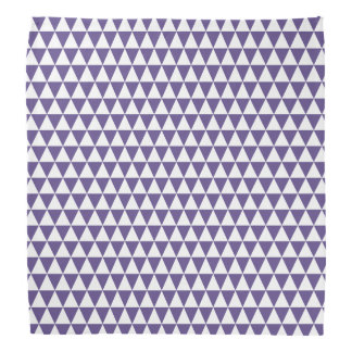 White and Ultra Violet Purple Geometric Triangles Bandana