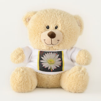 White and Yellow Cactus Bloom  Teddy Bear