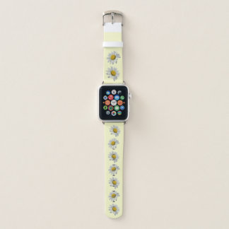 White and Yellow Daisy Flowers Apple Watch Band