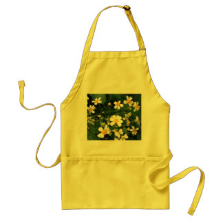 WHITE AND YELLOW FLOWERS STANDARD APRON