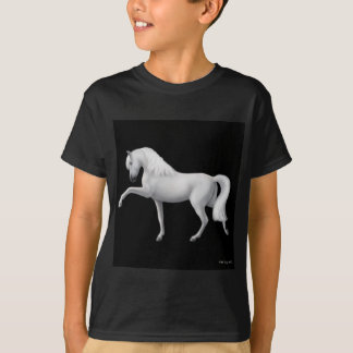 White Andalusian Horse Kids Dark T-Shirt
