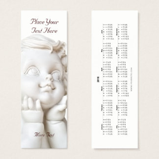 White Angel Bookmark 2018 Mini Business Card