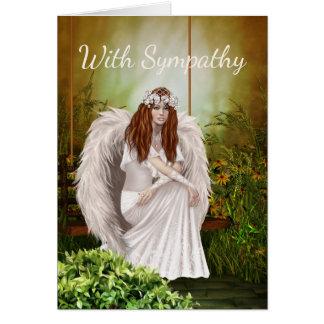 White Angel Sympathy Card