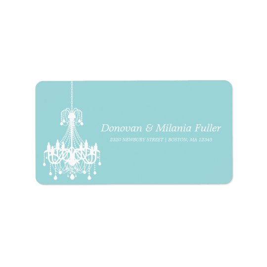 WHITE ANTIQUE CHANDELIER  | ADDRESS LABELS
