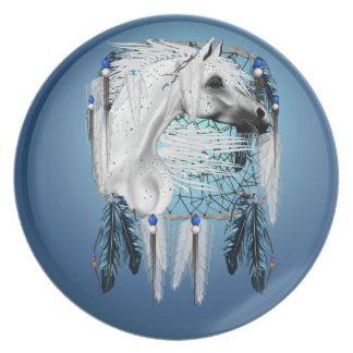 White Appaloosa Dreamcatcher Plate