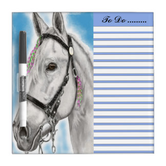 White Appaloosa white and blue sky to do list Dry Erase Board