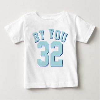 White & Aqua Baby | Sports Jersey Design Baby T-Shirt