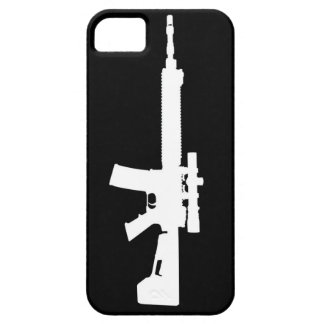 White AR-15 iPhone 5 Universal Case iPhone 5 Cases