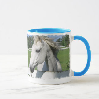 White Arabian Horse Coffee Mug