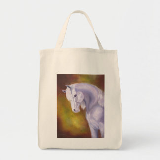 White Arabian Horse grocery bag