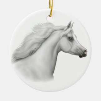 White Arabian Horse Ornament