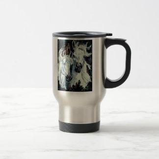 White Arabian Travel Mug