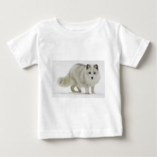 White Arctic Fox Blends Into The Snow Baby T-Shirt