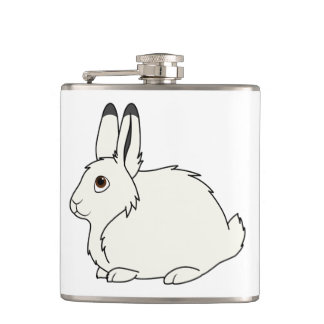 White Arctic Hare Flask
