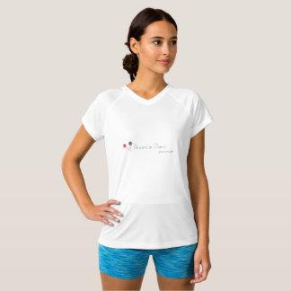 white athletic designer t shirt for women