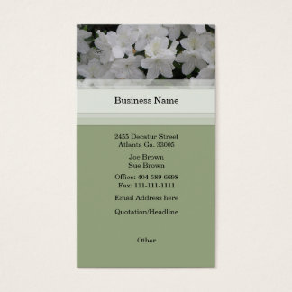 White Azaleas Business Card
